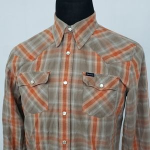 Hollister L/S Pearl Snap Plaid Western Shirt